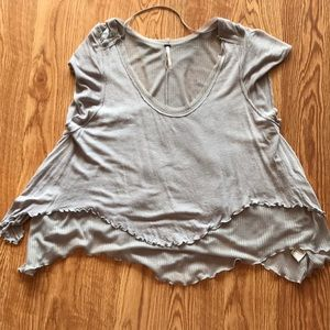 Free People short sleeve knit top size XS